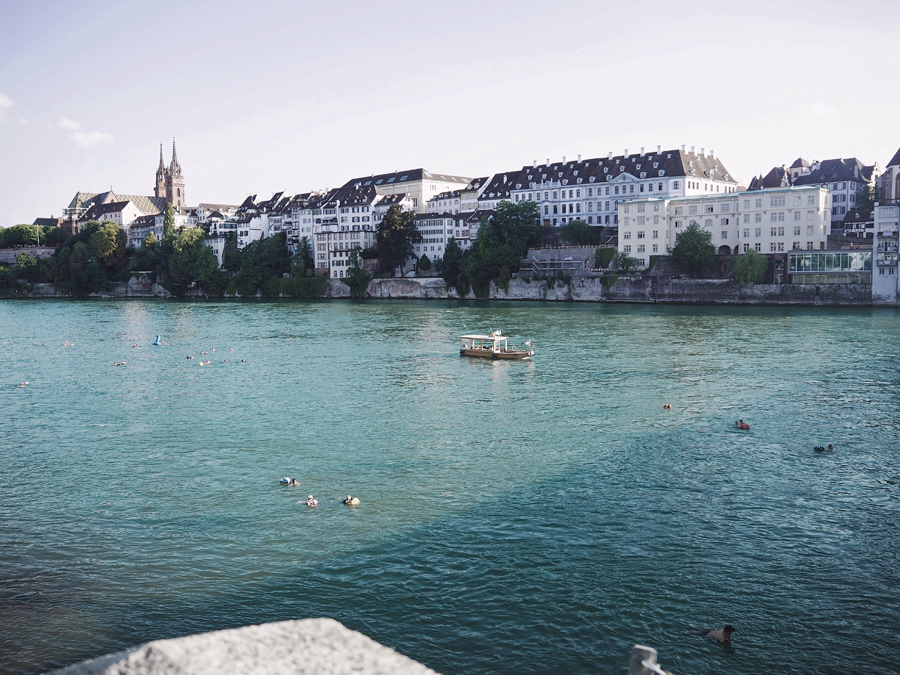 Basel Switzerland river Rhine cityview cityscape summer