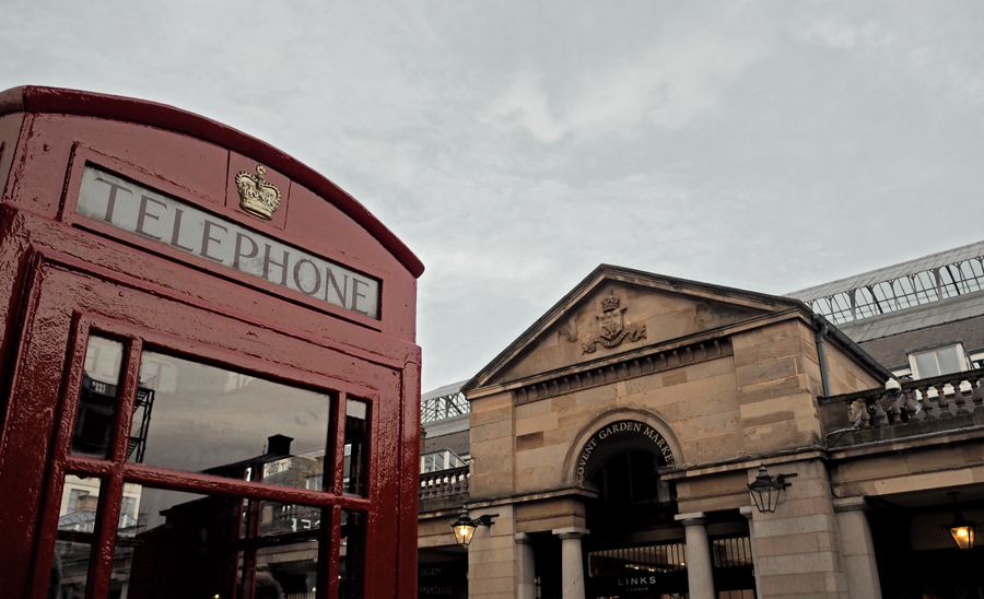 Covent Garden London red telephone box